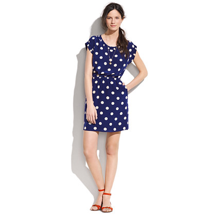 silk Dotty Dress