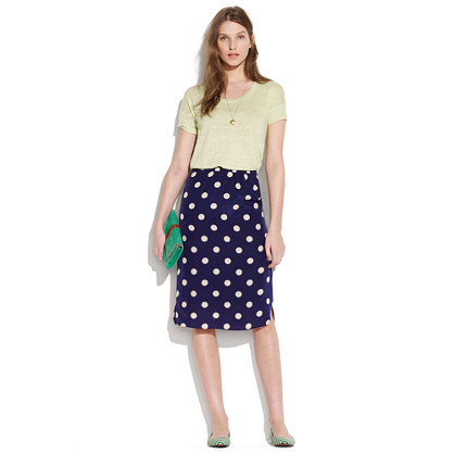 Silk Dotty Passenger Skirt