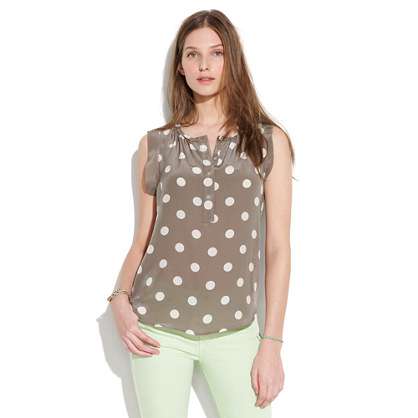 Silk Dotty Sunshade Top