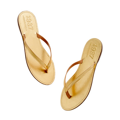 The Metallic Boardwalk Flip-flop