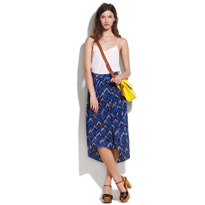 Silk Chevron Glassland Skirt