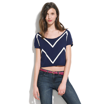 Gar-De® Cropped Zigzag Sweater