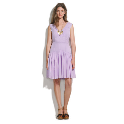 Silk Pastelview Pleated Dress