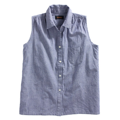 Chimala® Chambray Sleeveless Shirt