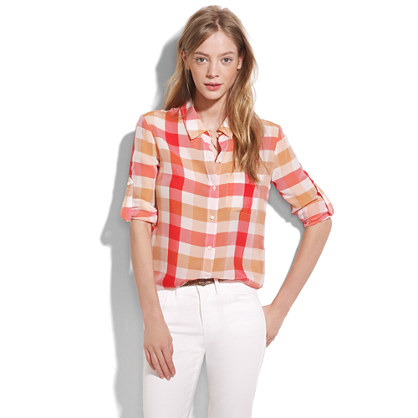 Plaidpop Silk Boyshirt