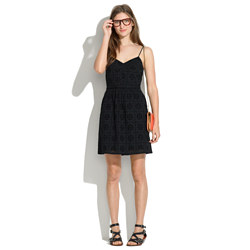 Cami Dress in Eyelet Sunflower