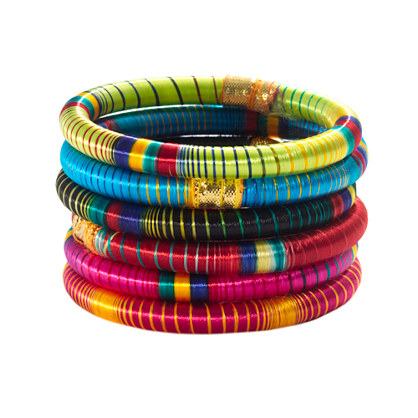 Cara Accessories™ Striped Bangle
