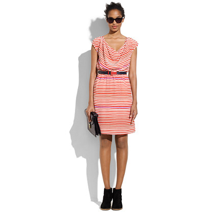 Silk Gallery-Stripe Boulevard Dress