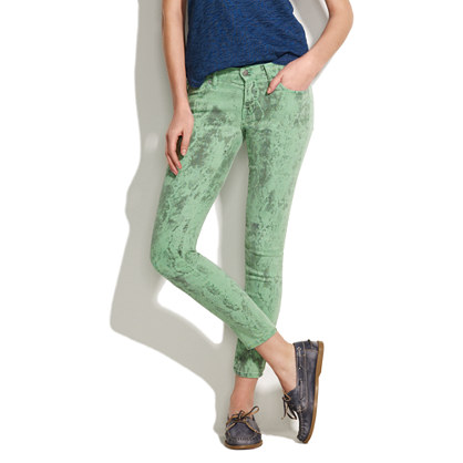 Textile Elizabeth and James® Low Rise Skinny Jeans in Spearmint Python