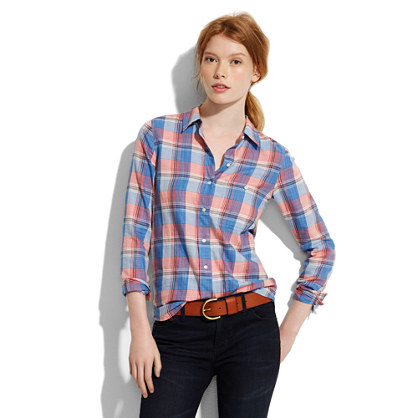 Shrunken Pictureplaid Boyshirt