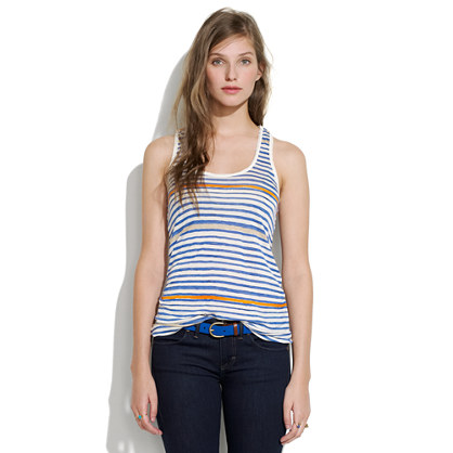 Striped Drape Tank