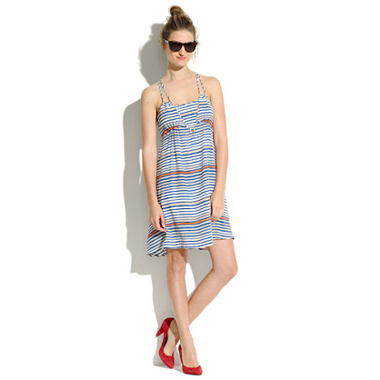 Striped Silk Riverbank Dress