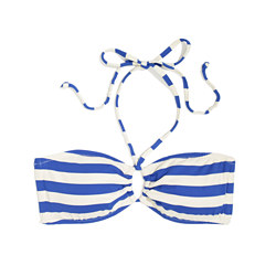 Bandeau Bikini Top in Beachstripe