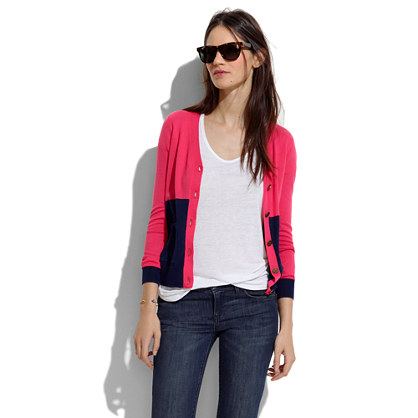 Colorblock Heartnote Cardigan