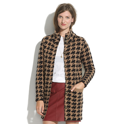Houndstooth Sweater-coat